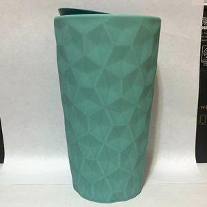 2021 Starbucks Textured Geo MINT Seafoam GreenCup